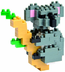 nanoblock koala create works animal micro-sized
