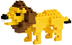 nanoblock lion create works animal micro-sized